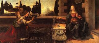 Annunciation 1475–1480 - Leonardo da Vinci