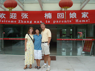 Gladney china adoption andy revisits zhangjiajie swi chinese way of greeting red banner welcome home m4hsunfo