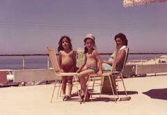 Helena Paula e Olga Maria ,com Tininha, 1970,Figueira da Foz