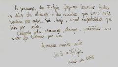 Natal 1998 - Dedicatória escrita por João António