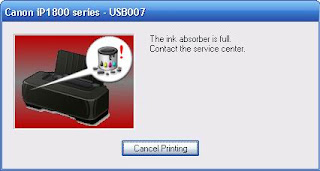 Kode Blink Printer Canon Pixma IP1200, IP1300, IP1600, IP1700, IP1880