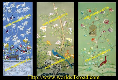 Chinoiserie Silk Wallpaper Development And Innovation Of Meticulous Brushwork In Traditional Chinese Painting