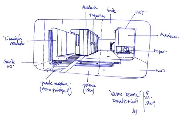 Dibujos de arquitecto architect drawings centro termal - Amutio y bernal arquitectos ...