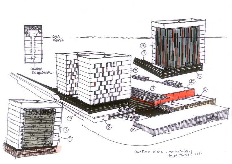 Dibujos de arquitecto architect drawings 2011 01 24 - Trabajo arquitecto barcelona ...