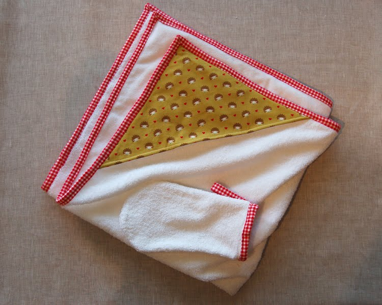 Sew To Speak Hooded Baby Towel And Wash Mitt