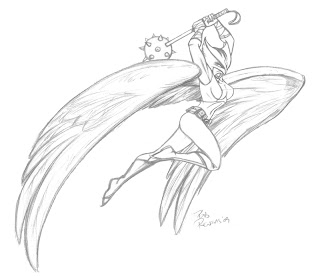 hawkgirl coloring pages - renzoid ducked work