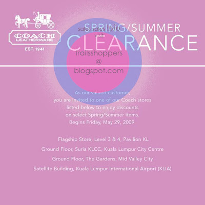 COACH Clearance Sale