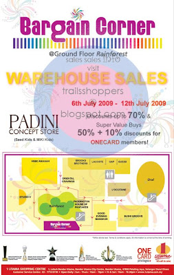 Padini Concept Store Seed Kids Miki Kids Warehouse Sales