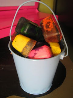 recycled crayon ice cubes