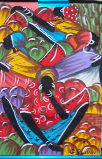folk art painting of Jamaica natives