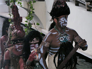 Mexican natives in ceremonial costumes