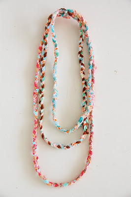 Fabric Scraps Necklace