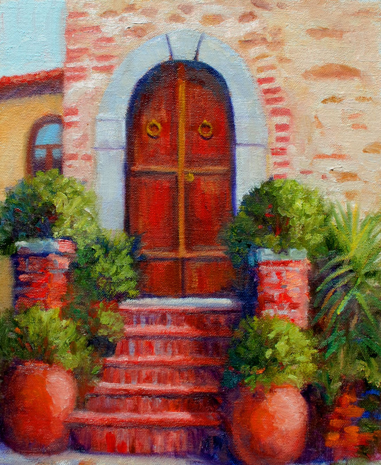 Opportunity Knocks. Tuscan Door & European and Southern Paintings by Durinda: Opportunity Knocks