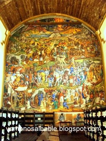 El bable el mural de juan o gorman en la biblioteca for Mural de juan o gorman