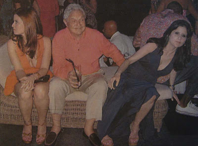 George Soros With Ladies