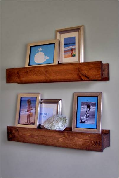DIY Barn Beam Shelves