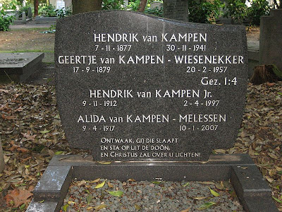 Tombstone of Van Kampen family grave