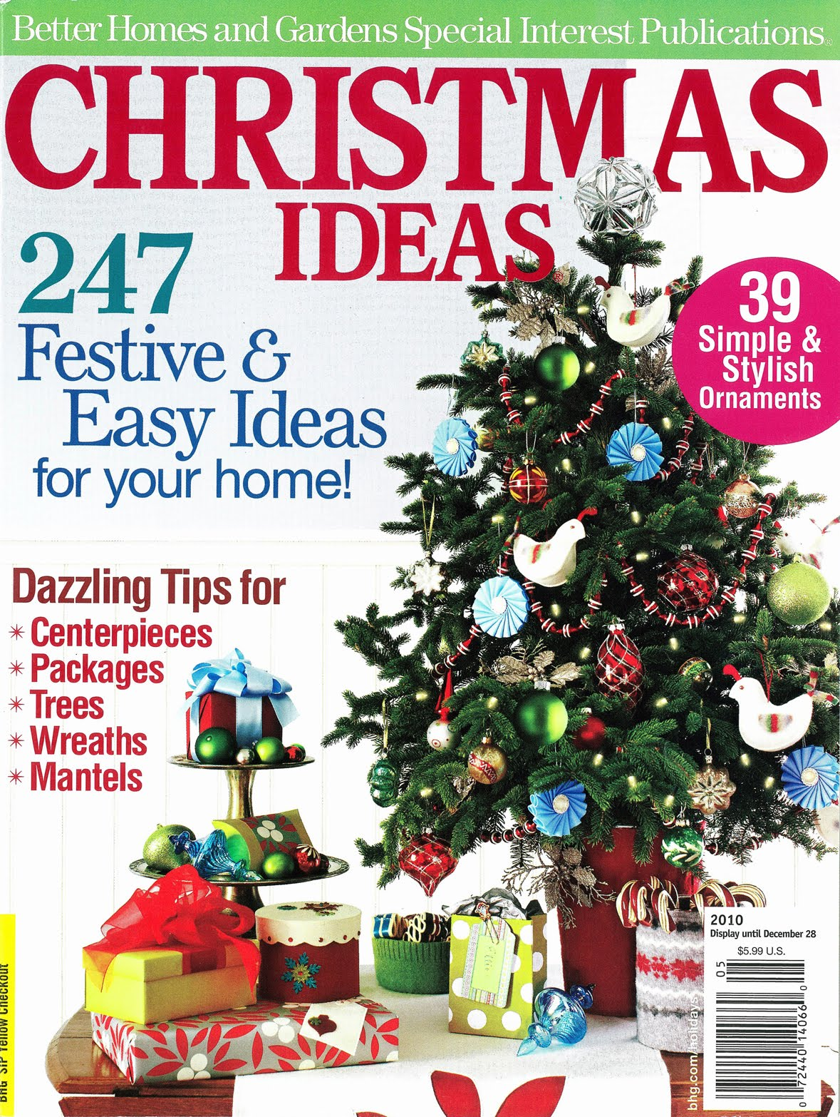 Bricolage october 2010 Better homes and gardens christmas special