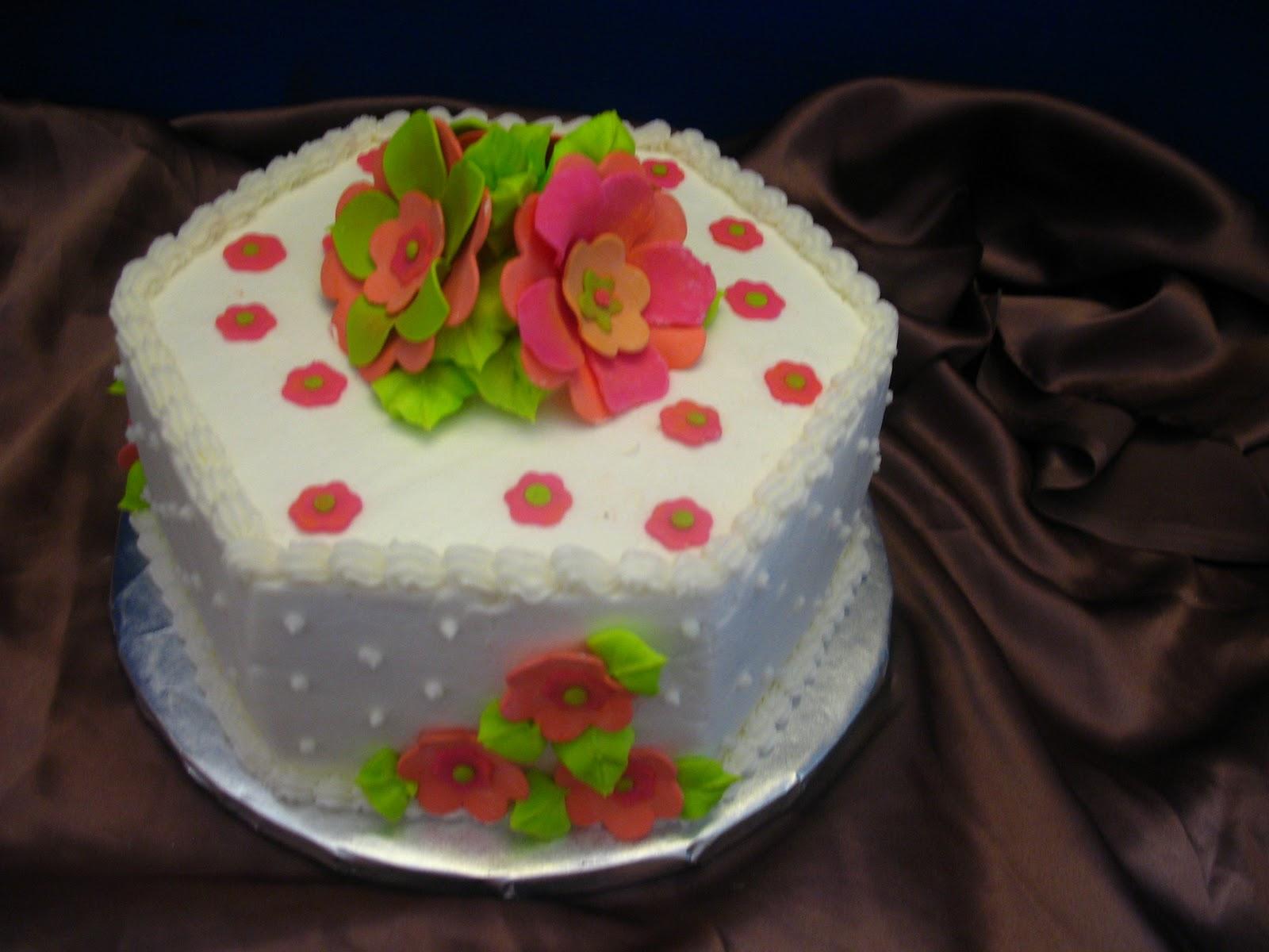 Hexagon Birthday Cake Cakes By Mary Ann