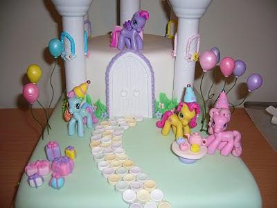 my little pony cake pops. My Little Pony Castle Cake