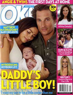 Image result for matthew mcconaughey baby ok magazine