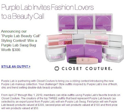 Reader Giveaway! Purple Lab Closet Couture