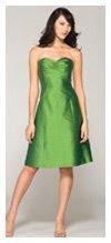green bm dress