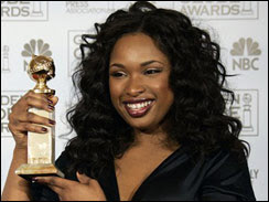 Jennifer Hudson wins a Golden Globe