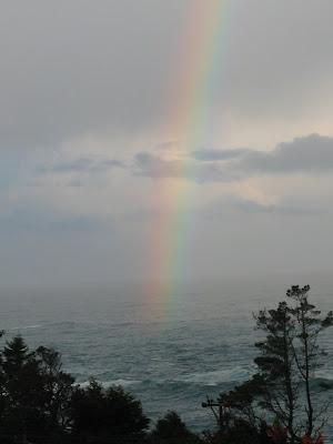 Pacific Ocean Rainbow Mendocino, CA