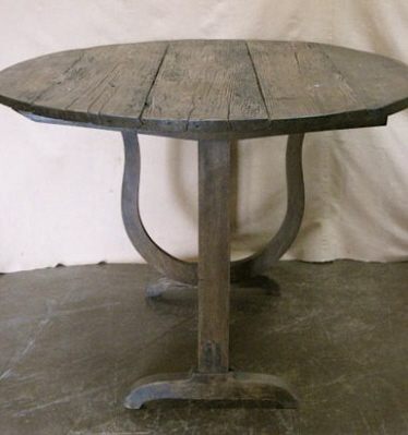 Antique Wine Table via Relics Architectural Antiques as seen on linen & lavender (1)