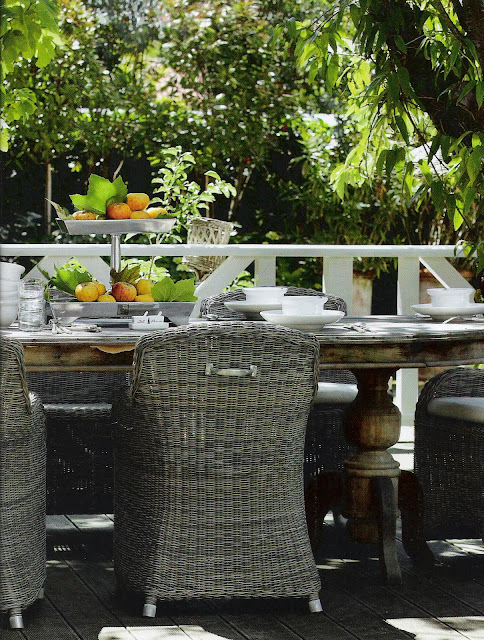 Riviera Maison Outdoor Dining as seen in Maisons Côté Ouest magazine, edited by lb for linenandlavender.net