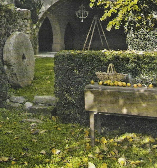 Ct Maisons,rustic garden landscape, image by Bernard Touillon, as seen on linen &amp; lavender