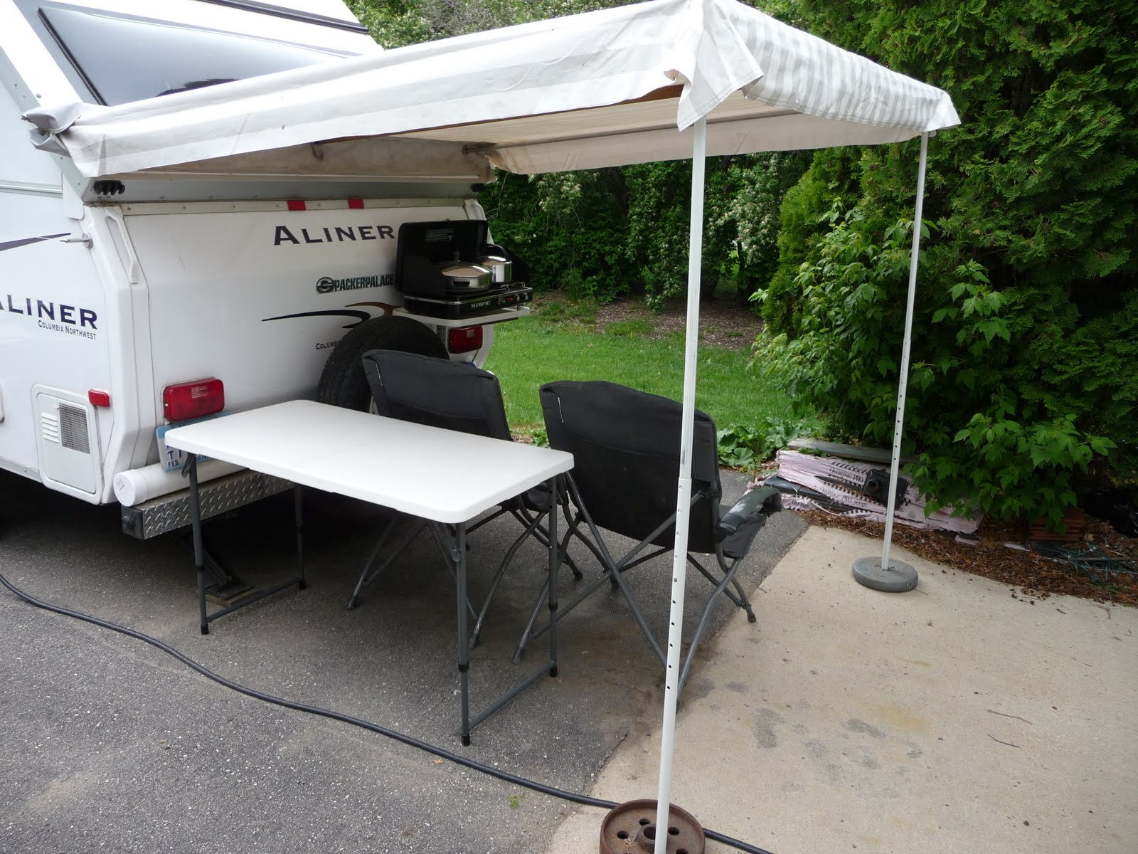Awnings Ideas Dave Theoleguy And Nancys Aliner Plug Setup 2008 Camper Wiring Ez Extra Height From High Wall Is Important