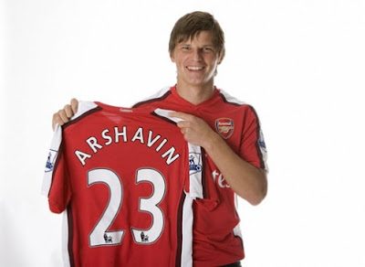 Arshavin Arsenal Kit No.23