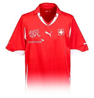 Switzerland Home Shirt 2010