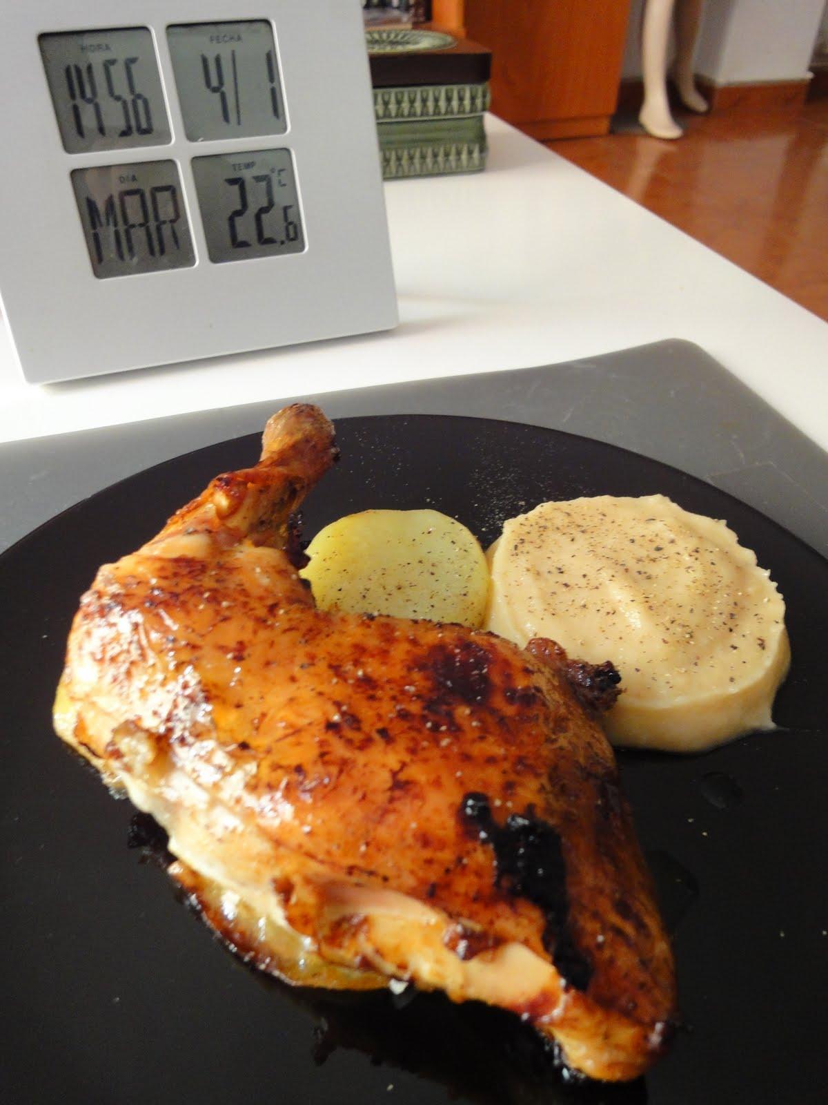 Clases de Cocina Zaragoza: Pollo al horno con patata y puré de manzana