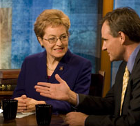 Simon Johnson and Marcy Kaptur