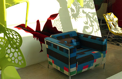 Innovation, Pixel Motif in Decorating a Sofa Design by Cristian Zuzunaga