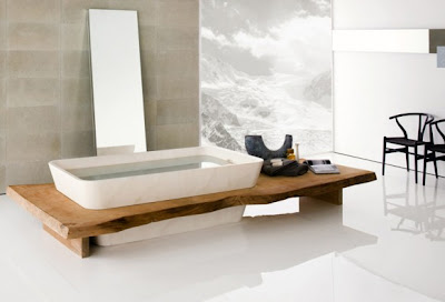Modern  Traditional Bathrooms Design Ideas with Natural Stone from Neutra