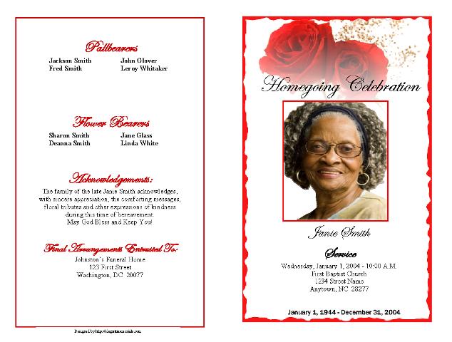 Obituary Template Obituary Program Example – Funeral Obituary Template