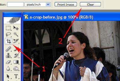 crop in Photoshop