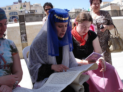 Women's Megillah reading at Western Wall