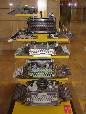Typewriter exhibit