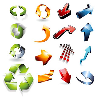 3DvectorArrows 3D Arrow Vector Icons