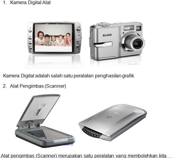 Kamera Digital dan scanner merupakan peralatan yang biasa digunakan ...