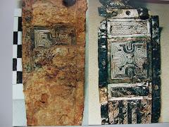 damasquinado bajo una cobertura de corrosión