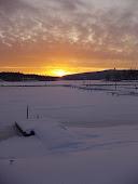 Sunna välsignade oss med en andlöst vacker solnedgång December 2009