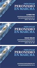 Tarjeta de Peronismo en Marcha