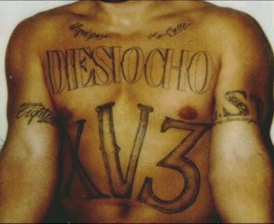 Latino prison gangs 18th street gang for South street tattoo