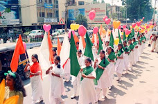 children in national colours